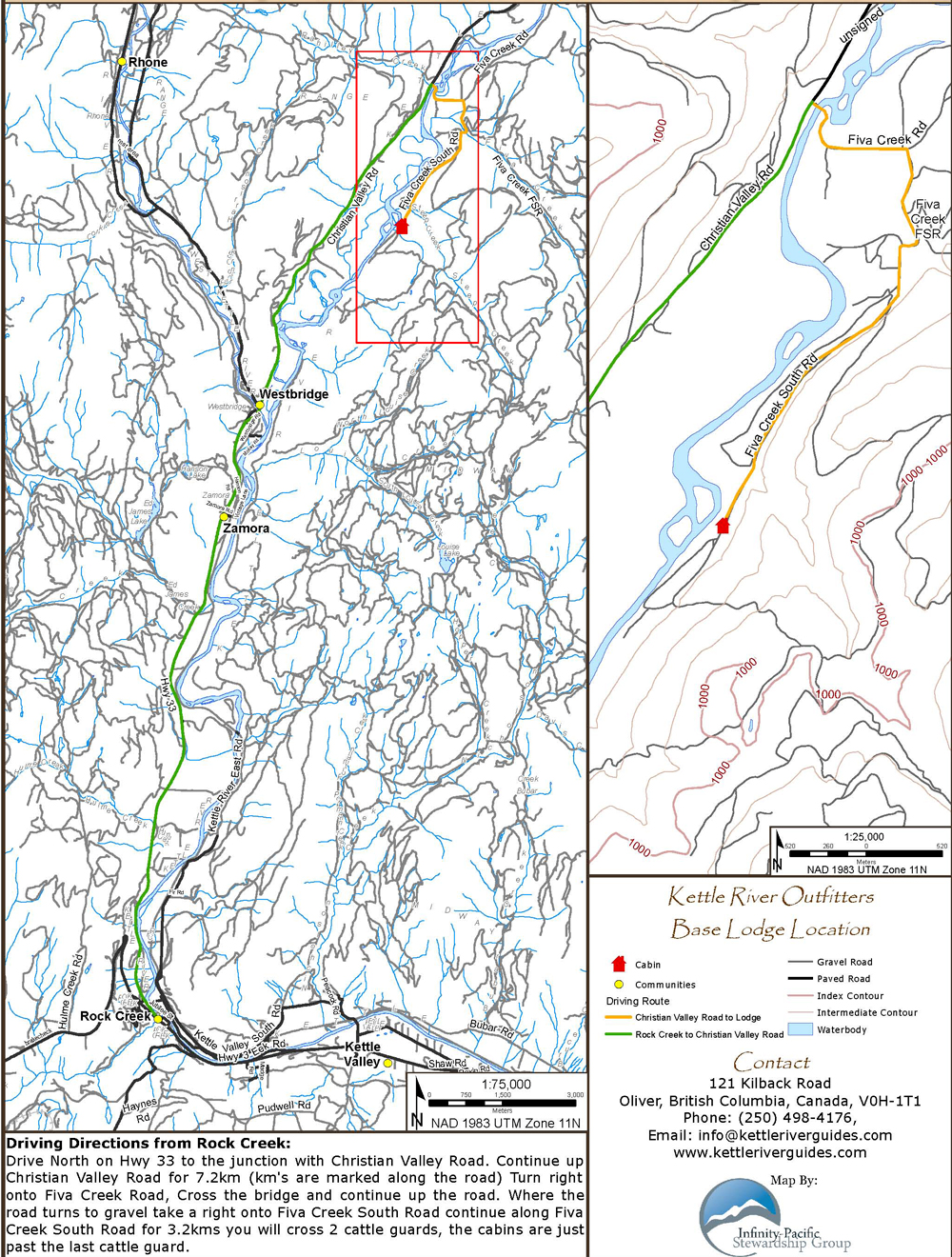 Kettle River Guides Location Map